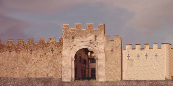 Laurenna's walls and the southern gateway